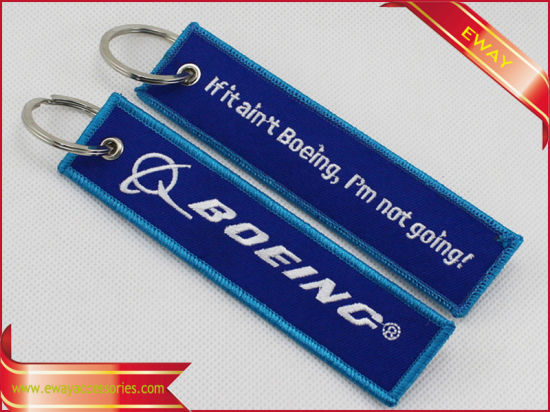 Insert Before Flight Embroidery Keychain Promotion Fabric Keychain pictures & photos