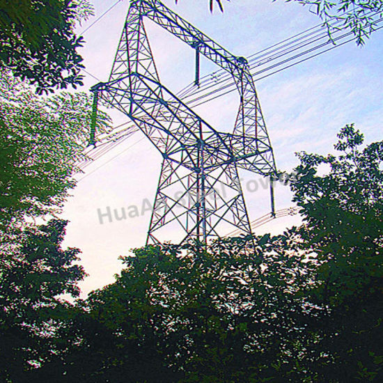 Electric Power Transmission Extreme High Voltage 1000kv Galvanized Angular Steel Tower pictures & photos