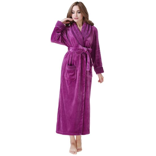 Lady Fashion SPA Essentials Full Length Soft Warm Robe pictures & photos