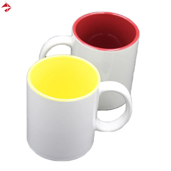 Sublimation Stoneware Mug Promotional Gift Multiple Color Inside pictures & photos