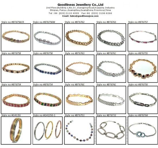 2017 Woman Fashion Jewelry 925 Silver Color Stone Bracelet (BT6665) pictures & photos