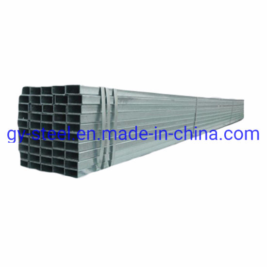 Best Price 2 1/2 X 4 Inch Carbon Steel Pipe Galvanized Rectangular Tube/2'' Galvanized Pipe Used for PVC