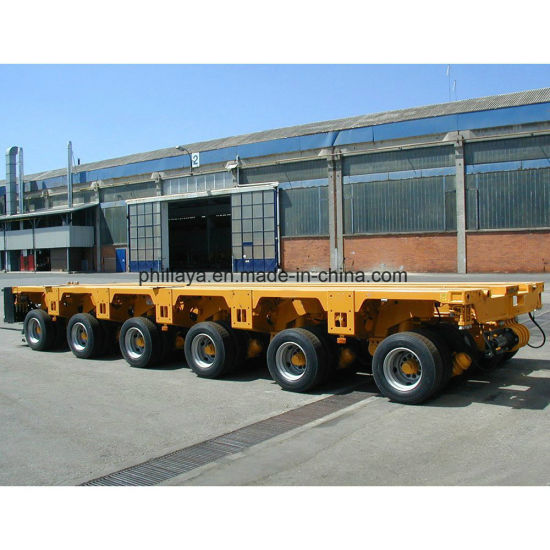 Rotary Axles Transport Steel Pipe Lowbed Tow Trailer pictures & photos