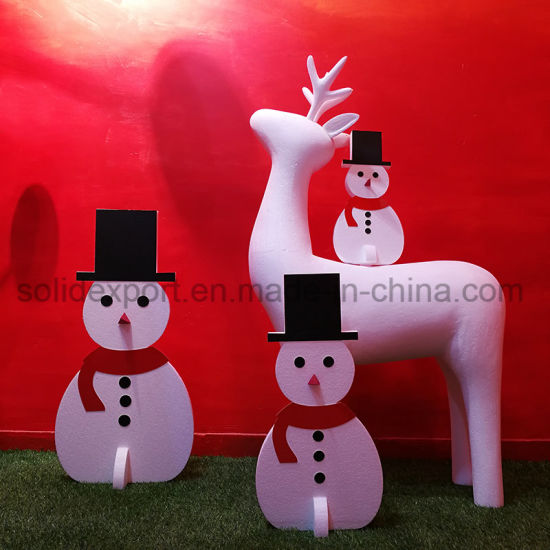 Winter Shop Window Christmas Snowman Decoration Props Home Display Decoration