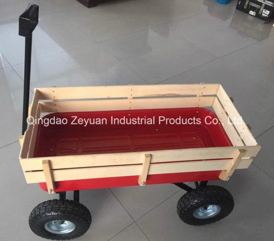China Outdoor Wood Children Wholesale Folding Wagon All Terrain Cart