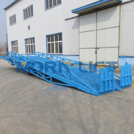 15t Mobile Hydraulic Car Truck Unloading Dock Ramp