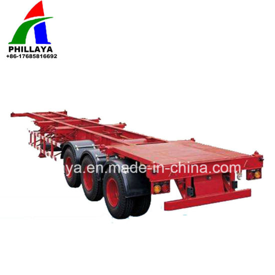 China Tridem Axle Cimc 40FT Comb Gooseneck Container Chassis Trailer ...