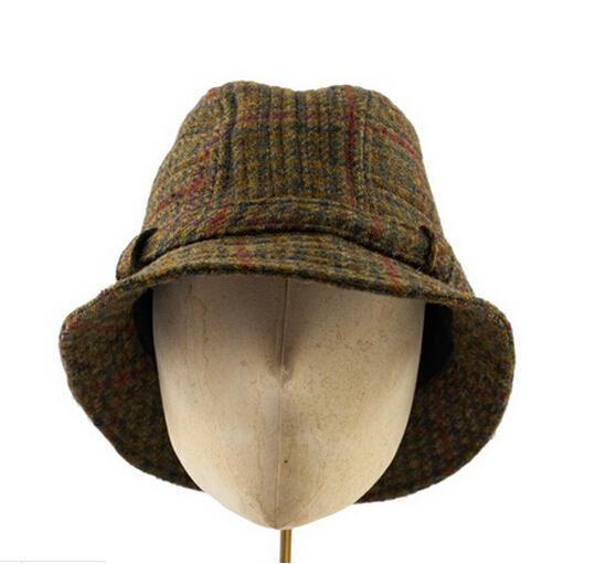 China 2016 Fashion Cap Adot Strip Wool Tbucket Hat - China Cap, Hat
