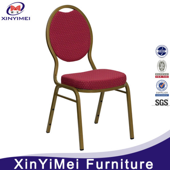 Cheap But Strong Iron Steel Metal Hotel Banquet Chair (XYM-S012)