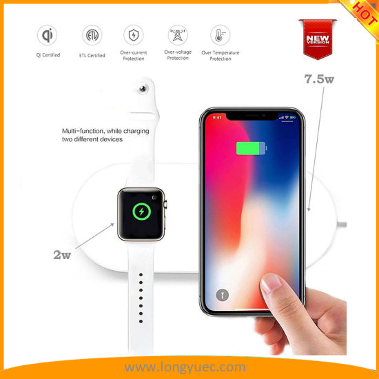 sports shoes 65744 3c780 China Qi Wireless Charger for Apple Iwatch 3/2, iPhone X, iPhone 8 ...