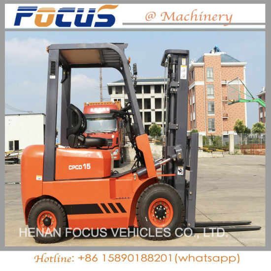 New 1 5ton Small Diesel Forklift, Used Forklift for Sale