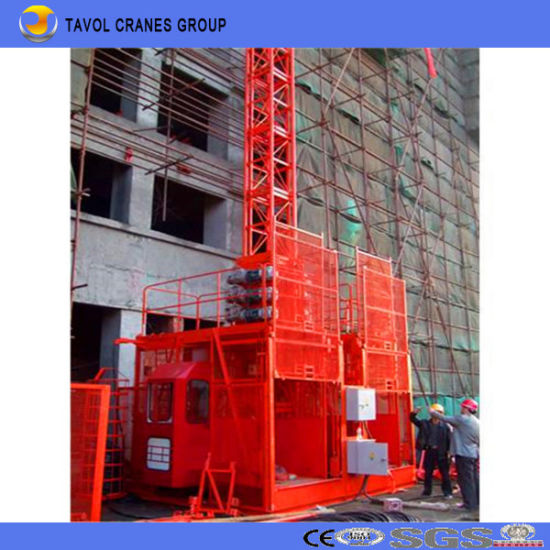 Construction Hoist 2ton Double Cage (SC200/200) Passenger Hoist pictures & photos