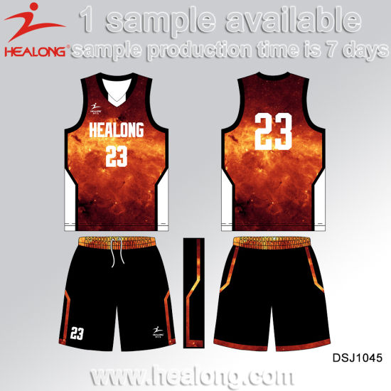 Healong Any Colors New Design Basketball Jersey for Teamwear pictures & photos