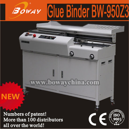 300books/H 330mm Length A4 Size Hot Auto Side Glue Book Binder Perfect Binding Machine pictures & photos