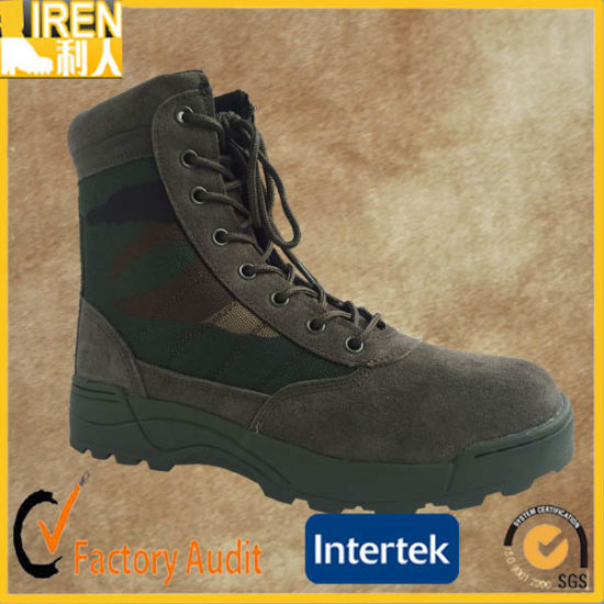 Camouflage Color Breathable and Durable Suede Cow Leather Cheap Military Desert Boot