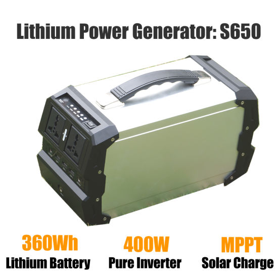 Portable Solar Power Generator Lithium Polymer Battery Solar Charger