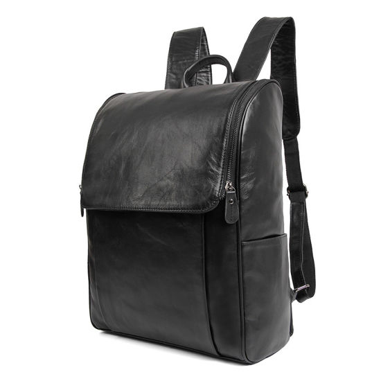 China Manufacturer Price Good Quality Genuine Leather Laptop Bag Leather Backpack for School pictures & photos