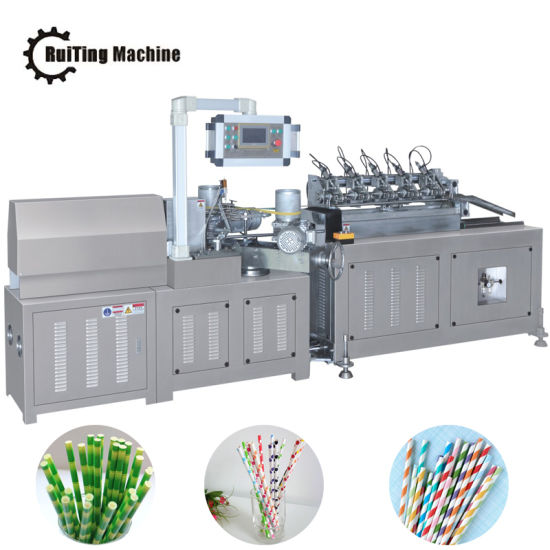 Multi-Knife System Online Cutting Paper Straw Tube Making Machine