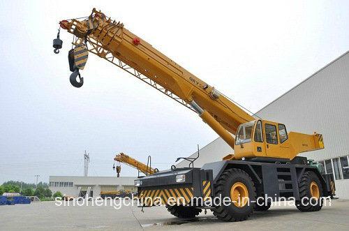 Construction Machinery Rough Terrain Truck Crane 55 Ton Qry55