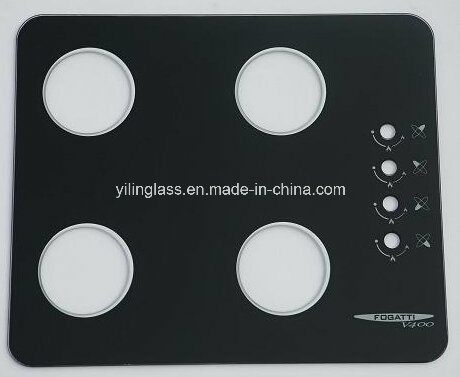 Color Pattern Printed Cooktop Glass with Certificate CE SGCC pictures & photos