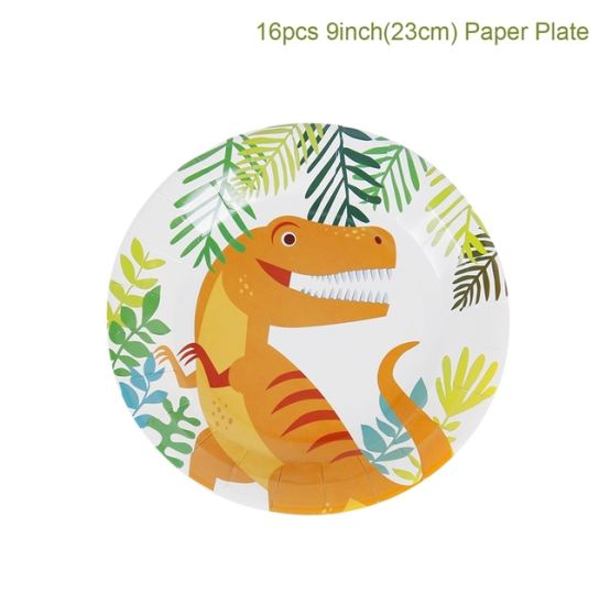 Dinosaur Theme Party Decoration Dinosaur Balloon Decoration Disposable Party Tableware Set Kids Boy Birthday Jungle Party Baby Shower Favor