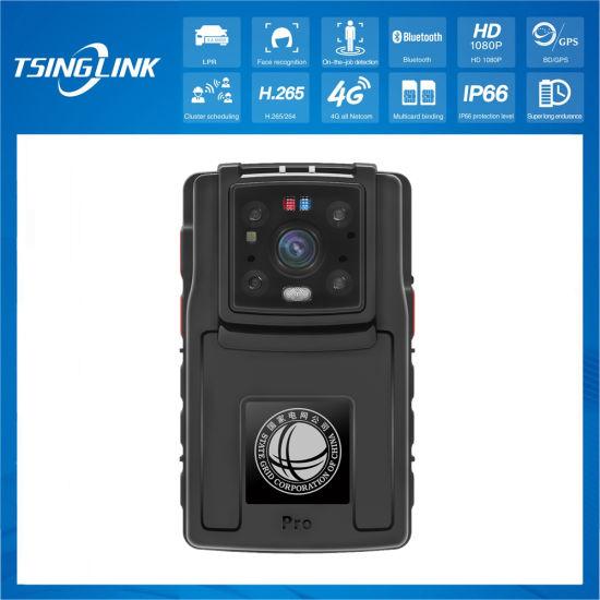 Ai 1080P Video Talkback Law Enforcement Recorder Face Recognition Lpr Intelligent Police Body Worn Camera