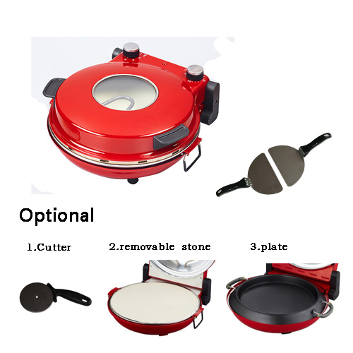 Ceramic Plate 360-400c Max Temperature Electric Pizza Maker