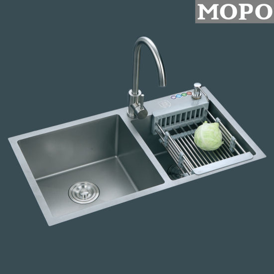 Chinese Silvery Color Kitchen Stainless Steel Sink pictures & photos