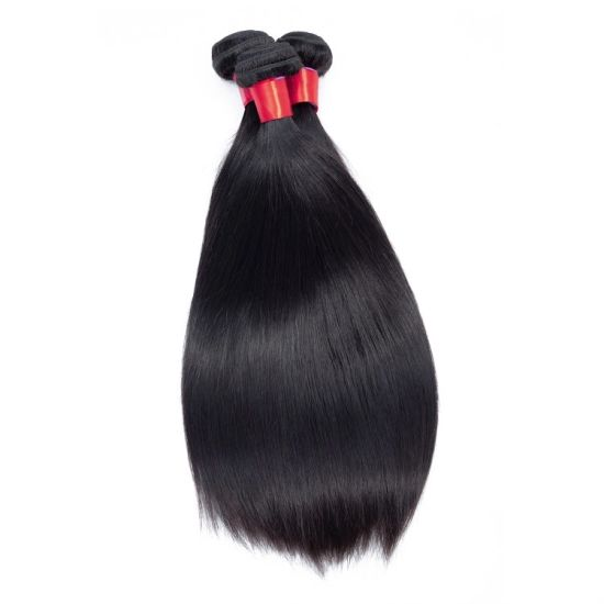 Indian Straight Hair Bundles Indian Remy Straight Human Hair Raw 8A Indian Straight Hair Bundles with Closure /Frontal pictures & photos