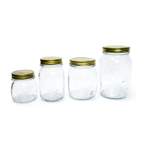 Hot Sell Glass Storage Jam Jar Glass Mason Jar with Metal Lid pictures & photos