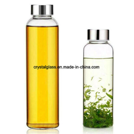 Customized Water Glass Bottle Drinks Juice Beverage Glass Bottleoem 300ml 420ml 500ml 750ml 1L