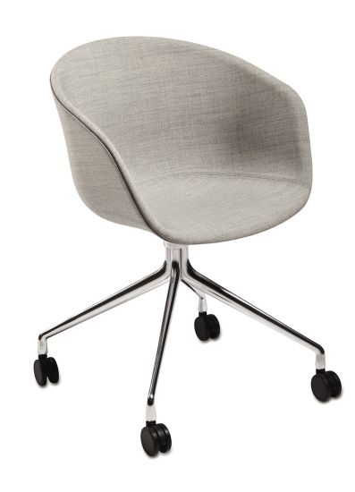 Plastic Swivel Restaurant Office Chair with Aluminum Base