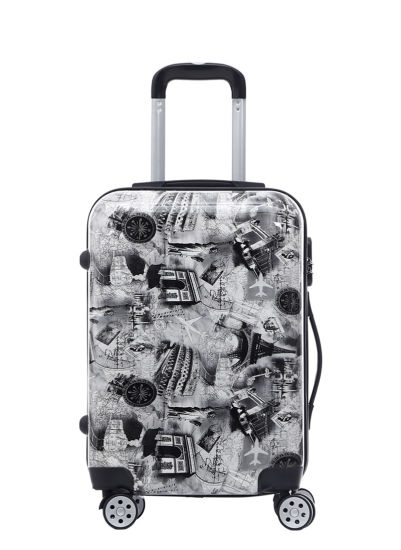 ABS PC Printed Design Trolley Case, 2019 New Pattern Luggage (XHPA031)