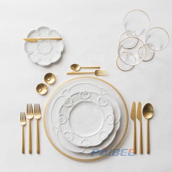 Wholesale Fine Chinese Porcelain Dinnerware Living Art Dinner Set for Wedding Tableware