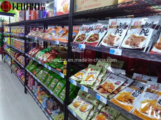 Custom Large 5 Shelves NSF Adjustable Steel Superstore Supermarket Display Rack Manufacture pictures & photos