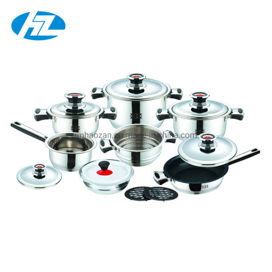 Stainless Steel Wide Edge Cookware Set