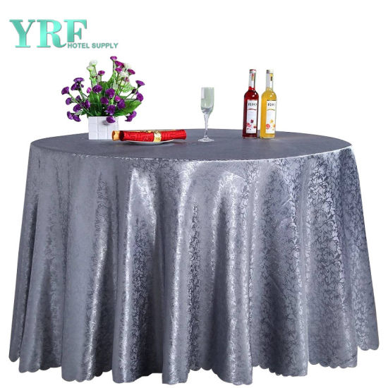China Yrf 132 Table Cover Hot Sale Sequin Silver Round Tablecloth