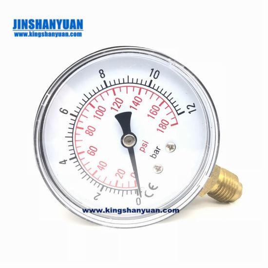 China 1/4NPT Mini Pressure Gauge Water Compressor Hydraulic Vacuum 0