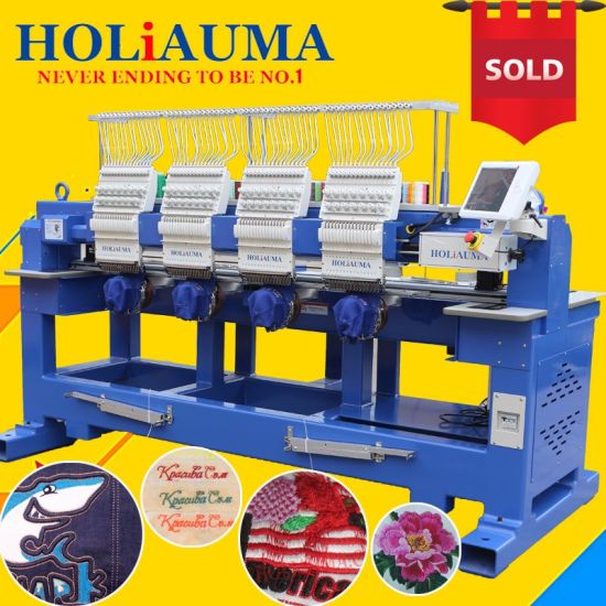 New 4 Heads Embroidery Machine Dahao A18 Computerized Embroidery Machine Cap/Tshirt/Flat Industrial Embroidery Machine for Sale