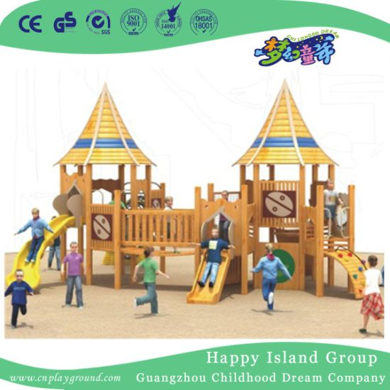 Outdoor Bright Color Children Wooden Playhouse Playground Equipment (1908403)