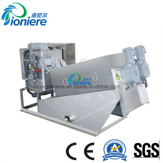 Clog-Free Auto Clean Sludge Dewatering Machine for Sewage Treatment pictures & photos
