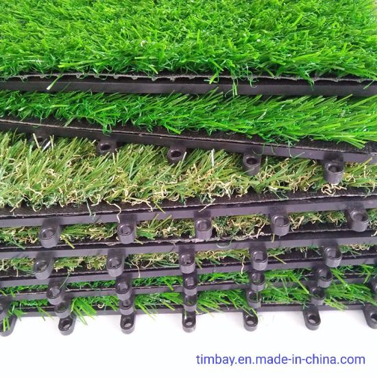 Interlocking Artificial Grass Tile for Landscape Garden DIY