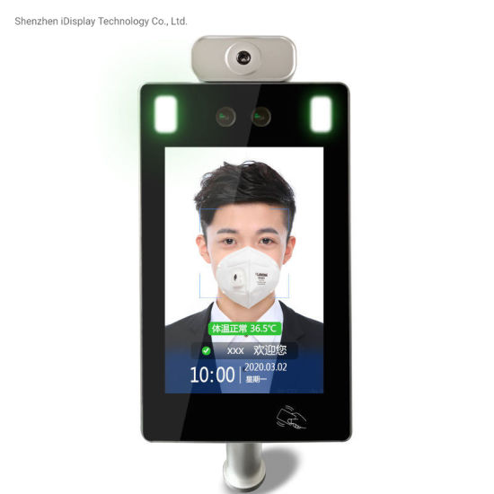 8 Inch Scan Camera Security Detection System Face Recognition Temperature