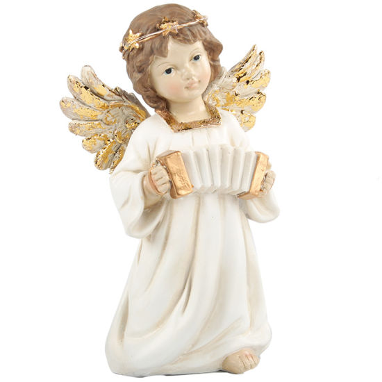 Home Indoor Home Daily Decor Colored Ornament Resin Angel Figurine with LED
