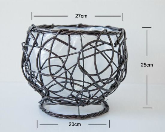 Wholesale Natural Wicker Willow Flower Planter Pot