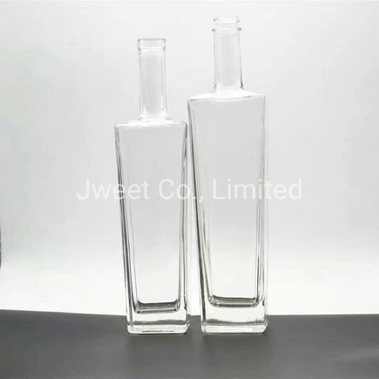 High White Frosting 750ml Whisky Glass Bottle with Crown Cap