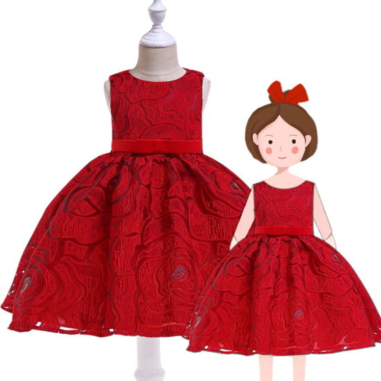 High Quality Lace Princess Dress Wedding Dress Kids Girls Party Dresses pictures & photos