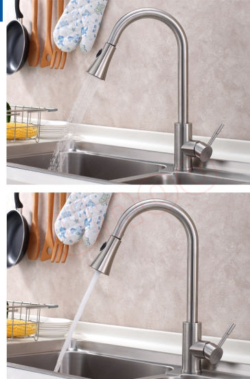 Unoo Fashion Single Hole Pull-out Spray Upc Kitchen Faucet (F80027) pictures & photos