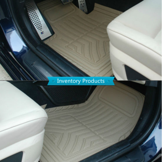 All Weather Floor Mat for 2016-2018 Tesla Model S 3D Full Protection Car Accessories Beige 3 Piece Set