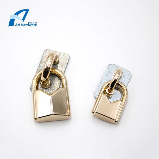China Supply Fashion Style Lock Shape Designed Metal Bag Accessories Decorative Hardware